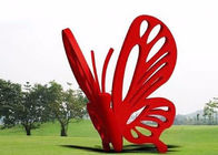 Chine Le jardin d'acier inoxydable d'art contemporain sculpte le grand papillon rouge usine