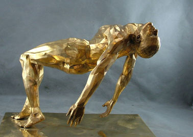 Sculpture en bronze moderne, sculpture en bronze en homme